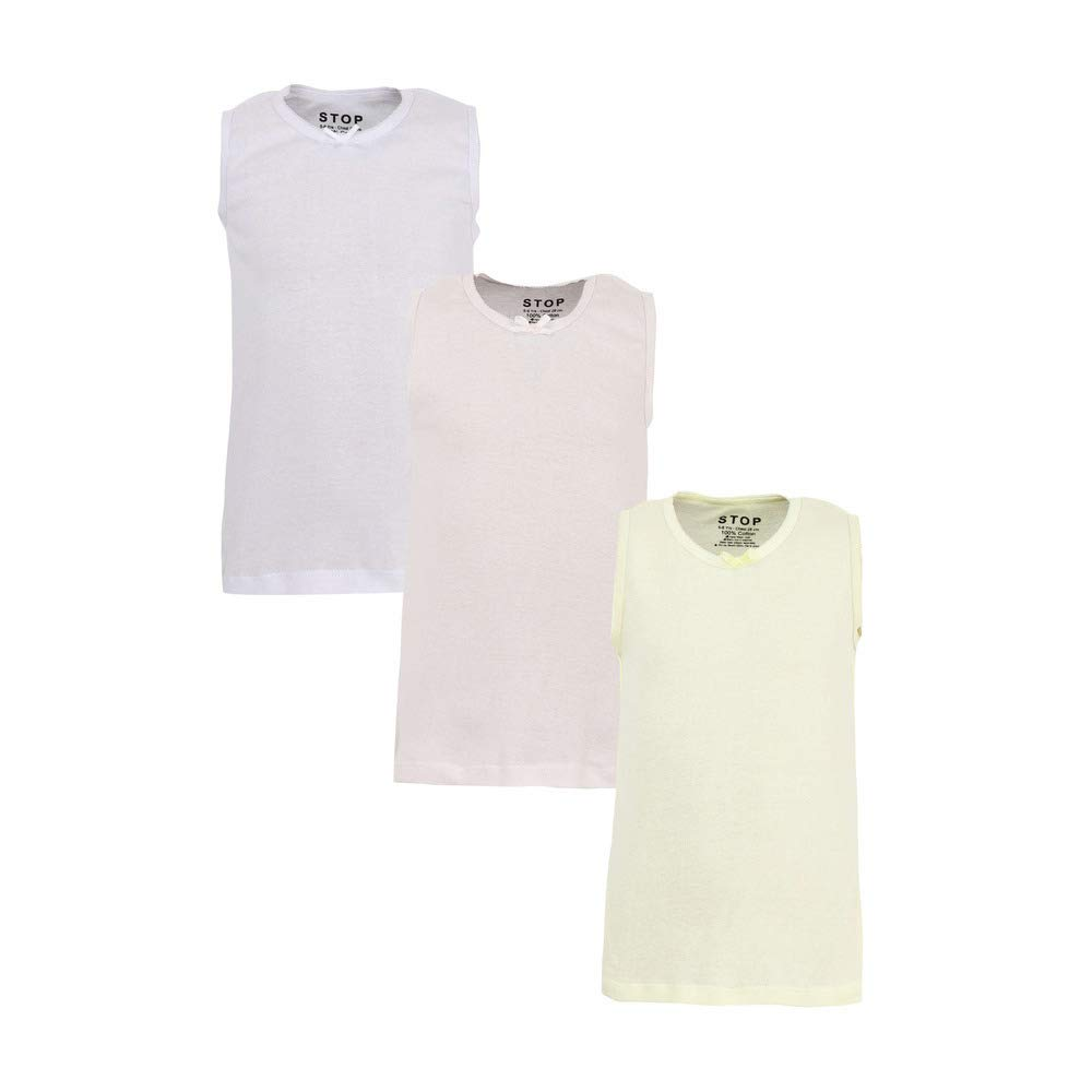 STOP by Shoppers Girls Round Neck Solid Slip – Pack of 3 (Size: 4-5Y,