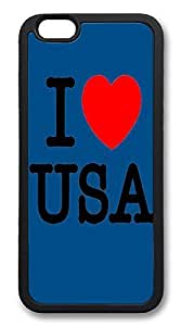 ACESR I Love Usa Lastest iPhone 6 Case PC Back Cover Case for Apple iPhone 6 4.7inch Black