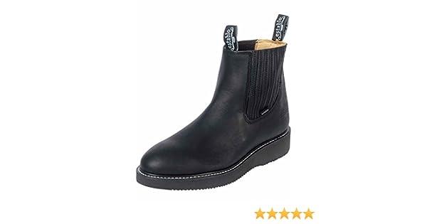 Amazon.com | ESTABLO Botin Trabajo ID 320 (Bot) Piel Grasso Negro | Boots