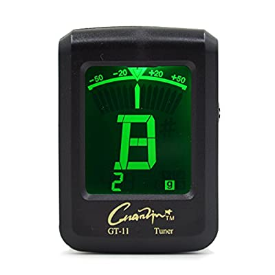 Digital Clip on Tuner for Guitar Bass Ukulele Violin Chromatic 4 and 6 Strings Instruments