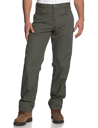Carhartt Men's Loose Fit Canvas Carpenter Five Pocket B159,Dark Moss,28 x 30