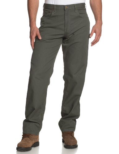 Carhartt Men's Loose Fit Canvas Carpenter Five Pocket B159,Darkmoss,42 x 30 (Canvas Cotton Work Pants)