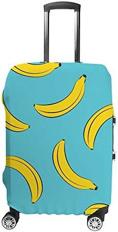 スーツケースカバー バナナ 伸縮素材 キャリーバッグ お荷物カバ 保護 傷や汚れから守る ジッパー 水洗える 旅行 出張 S/M/L/XLサイズ