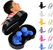 Susimand 6 Pairs Swimming Ear Plugs with Nose Clips, Rofessional Waterproof Reusable Silicone Ear Plugs for Sw