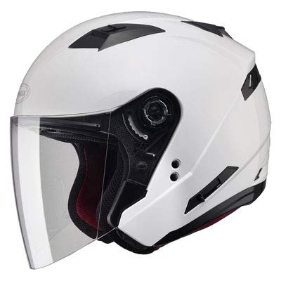 (GMAX Unisex-Adult Style G3770086 Of77 Open Face Helmet Pearl White l (Large))