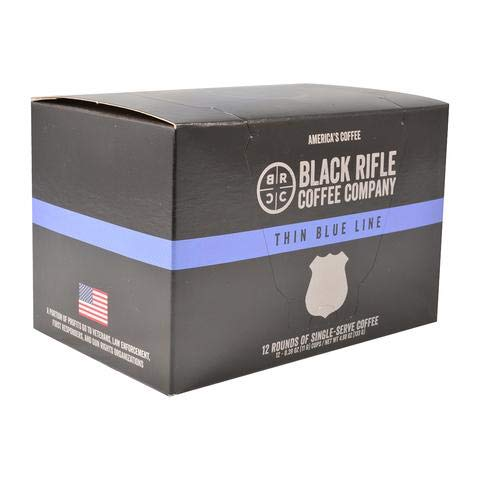Black Rifle Coffee K-Cups 2 Boxes of 12(24 -K cups) (Thin Blue Line)