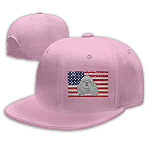 XMmanmz Patriotic American Cocker Spaniel Dog USA Flag Unisex Adjustable Truck Hat Dad Baseball Caps Driver Hat 1