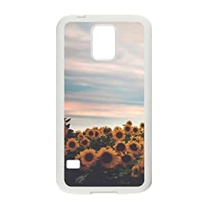sunflower Design Discount Personalized Hard Case Cover for SamSung Galaxy S5 I9600, sunflower Galaxy S5 I9600 Cover