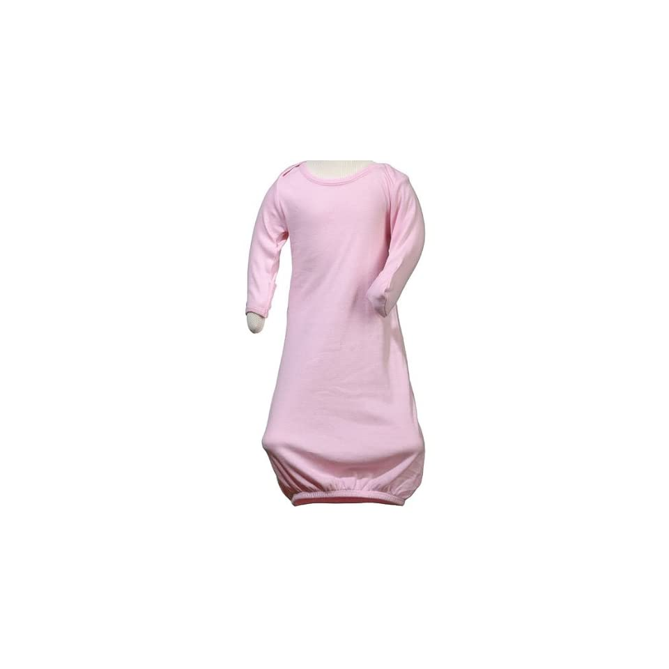Baby Bella 125 Infant's 100% Cotton Long Sleeve Infant Baby Sleeper Onesie   Pink 125 3 6 Fashion T Shirts Clothing