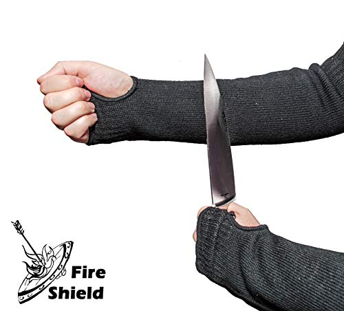 Heat and Cut Resistant Sleeves | 22 in. with Thumb and Finger Holes | Washable, Flexible, Durable | Full Arm Protection for Cooks & Welders | by FIRE SHIELD by Fire Shield (Image #2)