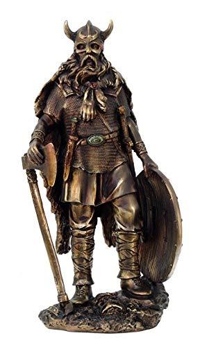 (Figurine Norse Viking Decor Asgard Warrior Warlord Axe Shield Statue Barbarian)