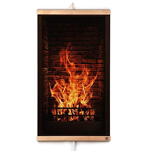 CG Home Far Infrared Carbon Wall Hung Heating Panel Fireplace Picture - Thin Light Electric Film Heater 110V / 470 W. Energy Efficient - Fast Heating Flexible - Safe - Durable. Foldable and Portable