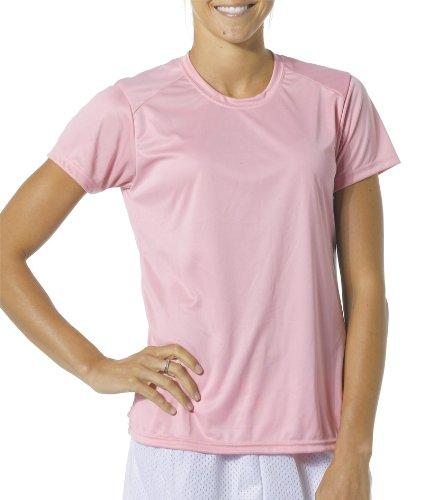 レディース半袖発散水分管理クールベースクルーネックシャツ/アンダーシャツ6レディースサイズ、12色) B00VKYCDBOホワイト Large