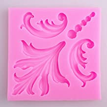New Retro Lace Roma relief Classical key hole flower shape Fondant Cake Mold Chocolate Mould for Kitchen Baking Decorations