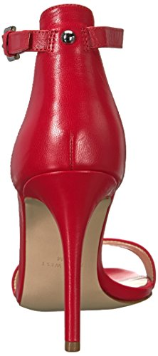 Sandalo Con Tacco In Pelle Di Mana Nove West Donna Rosso