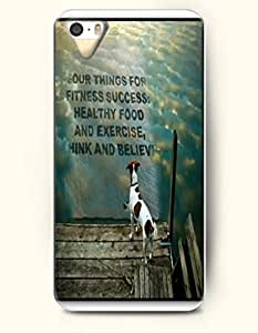 iPhone 4 4S Case OOFIT Phone Hard Case **NEW** Case with Design Four Things For Fitness Success: Healthy Food And Exercise,Think And Believe- Proverbs Of Life - Case for Apple iPhone 4/4s
