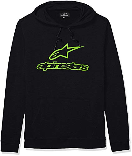 b3726228a Alpinestars Men's Logo Fleece Pullover Hoodie Classic fit Hooded  Sweatshirt, Always Ii Black/Green