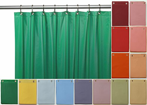 Venice Elegant Home Heavy Duty Vinyl Shower Curtain Liner with 12 Metal Grommets Hunter Green by Venice