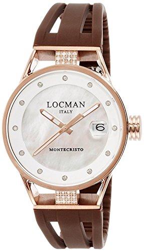 LOCMAN watch Monte Cristo Lady Quartz 100M waterproof Ladies 0521V15 0521V15-DRMWIDSN Ladies