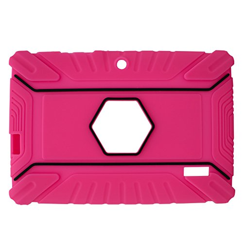 Transwon 7 Inch Kids Case Compatible with INONI Kids Tablet Android 6.0, Ainol Q88, TOPELOTEK 7, Dragon Touch Y88X Plus, Tagital 7 T7K, Contixo Kids Tablet K2 K3 - Pink