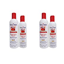 Fairy Tales Rosemary Repel Lice Prevention 12 Ounce Shampoo and 8 Ounce Conditioner Combo LUbBib, 2 Pack