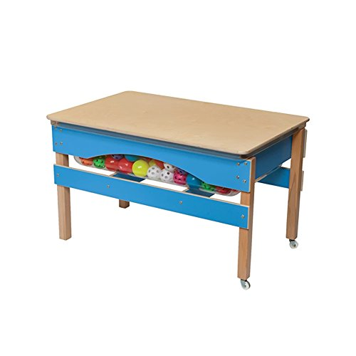Wood Designs Sand (Wood Designs 11825B Blueberry Absolute Best Sand & Water Sensory Center with Lid, 27
