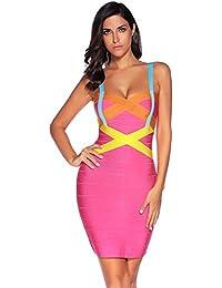 f6a6d0c478e3 Women s Celebrity Bandage Bodycon Dress Strap Party Pencil Dress