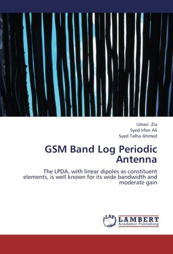 GSM Band Log Periodic Antenna: The LPDA, with linear dipoles as constituent elements, is well known for its wide bandwidth and moderate gain ()