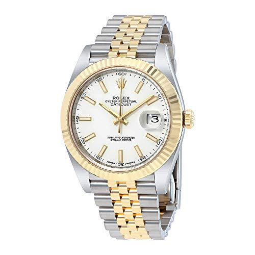 Rolex Datejust 41 White Dial Steel and 18K Yellow Gold Jubilee Mens Watch 12633WSJ
