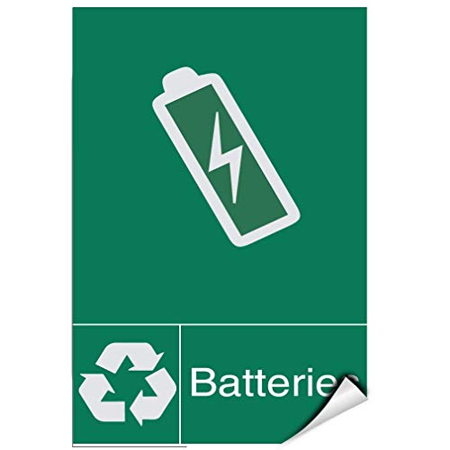 - Label Decal Sticker Batteries Recycling Activity Sign Recycling Signs Durability Self Adhesive Decal Uv Protected & Weatherproof