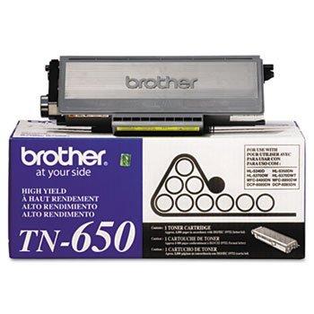 Brother TN650 Genuine OEM High-Yield Toner, Black, 1-Cartridge