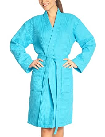 Vossen Rom - Albornoz para mujer, Azul (turquoise 557), L (44/46)