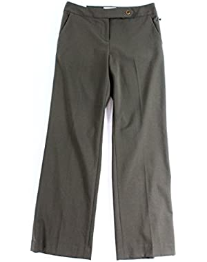 Women's Petite Classic Fit Dress Pants Green 4P