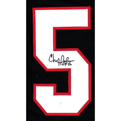 532fa81c06b Chris Doleman Autographed/Signed Atlanta Falcons Custom Black Jersey With
