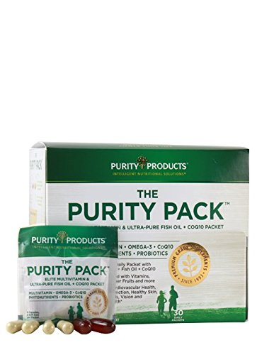 Perfect Multi Super Greens - Purity Pack (Multi + Fish Oil + COQ10) | Purity Products | 1000mg of EPA & DHA from Ultra Pure Fish Oil + 2,000 IU of Vitamin D | 30 to-Go Packets