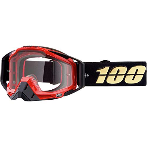 100% RACECRAFT Goggles Hot Rod - Clear Lens, One Size
