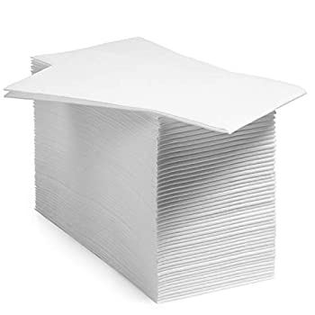Image of BloominGoods Disposable Linen-Feel Guest Hand Towels/Cloth-Like Paper Napkins, White, Pack of 1000 (Bulk Packaging)