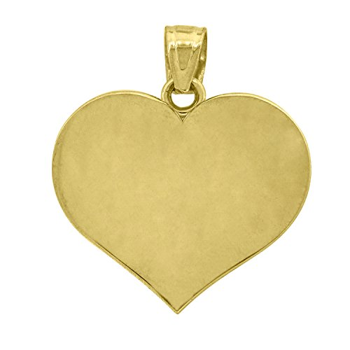 14kt Gold Womens Heart Polished Pendant (14kt Gold Heart Charm Pendant)