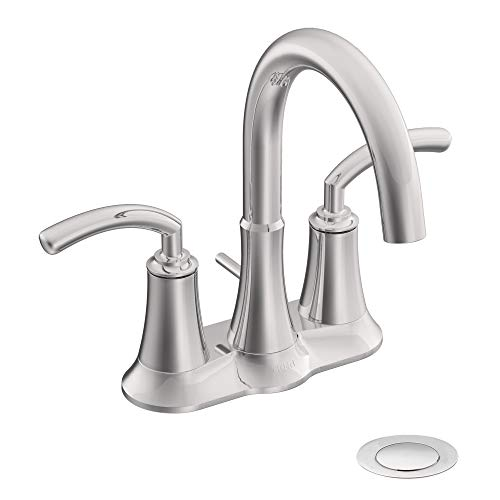 Moen S6510 Icon Collection Two-Handle Lavatory Faucet with Drain Assembly, Chrome ()