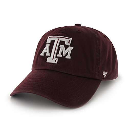 Texas A&m Aggies Sport Hat - NCAA Texas A&M Aggies '47 Brand Clean Up Adjustable Hat, Dark Maroon 1, One Size