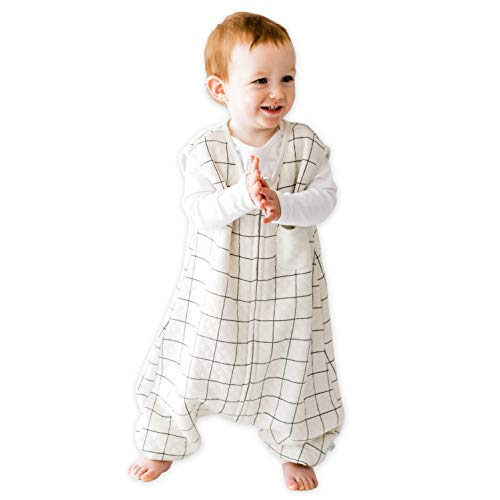 TEALBEE DREAMSUIT: Toddler and Early Walker Baby Wearable Blanket - 0.8 TOG Sleeping Sack with Legs Keeps Toddlers & Babies Warm During Sleep from Spring to Winter - Softest Sleepsuit -