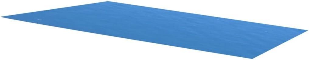 vidaXL Cubierta rectangular de PE piscina, azul, 260 x 160 cm