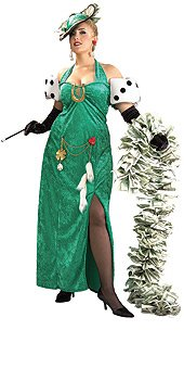 Lady Luck Sexy Womens Costume Adult Halloween Outfit ? Plus Size: Dress Size (Lady Luck Costume Plus Size)