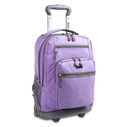 J World New York Sundance II Rolling Backpack, Orchid, One Size