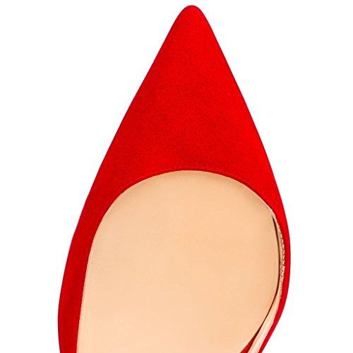 Arc-en-Ciel zapato de tacón alto zapatos de charol de las mujeres Rojo