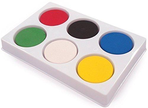 6 Watercolour Blocks & Palette for Kids School Craft Paint Set