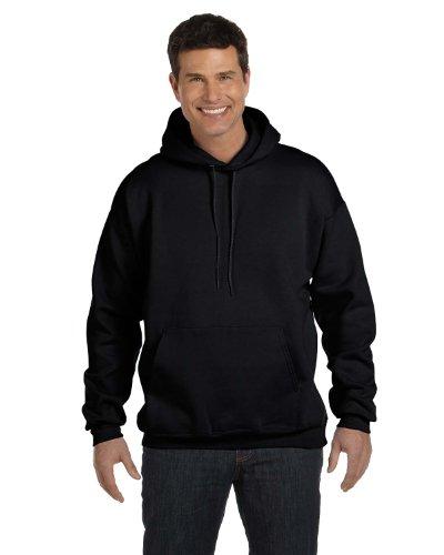 Hanes Mens 7.8 oz. ComfortBlend EcoSmart 50/50 Pullover Hood(P170)-Black-L