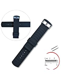 Yeworth® Silicone Watchband Wristband for Samsung Galaxy Gear 2 R380, Neo R381, Live R382, LG G Watch W100/W110/W150, Asus Zenwatch and Pabble Time Ticwatch Smart Watch Strap with 2 Pins Tool