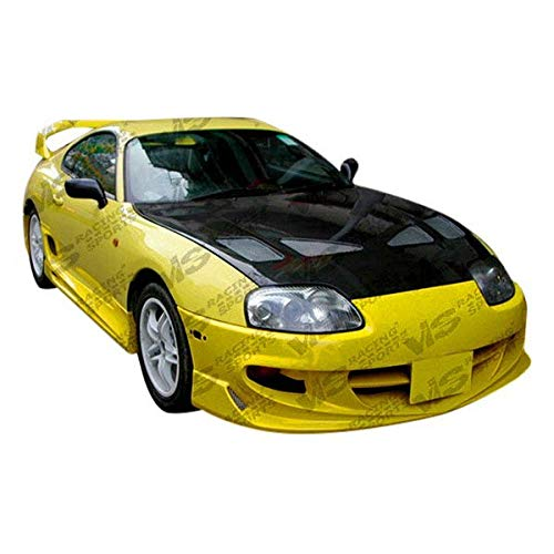 VIS Racing (VIS-XYB-714) Techno R Style Hood Carbon Fiber - Compatible for Toyota Supra 1993-1998 (1993 1994 1995 1996 1997 1998 | 93 94 95 96 97 98) ()