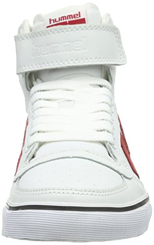 Hummel Stadil Classic, Zapatilla Alta Unisex Adulto Blanco (White/Red 9134)